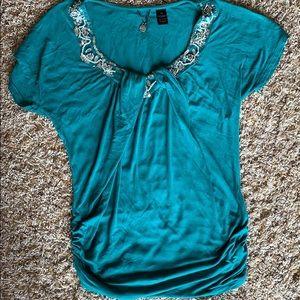 Turquoise BKE 𝑩𝒐𝒖𝒕𝒊𝒒𝒖𝒆 Blouse